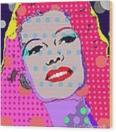 Rita Hayworth Wood Print by Ricky Sencion