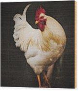 Rita's Rooster Wood Print