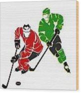 Rivalries Blackhawks And North Stars Wood Print