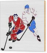 Rivalries Canadiens And Nordiques Wood Print
