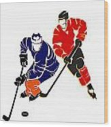 Rivalries Oilers And Flames Wood Print