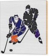 Rivalries Oilers And Kings Wood Print