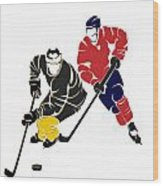Rivalries Penguins And Capitals Wood Print
