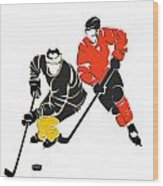 Rivalries Penguins And Flyers Wood Print