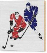 Rivalries Senators And Maple Leafs Wood Print