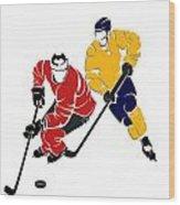 Rivalries Senators And Sabres Wood Print