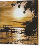 River Acres Jaynes Sunset Wood Print