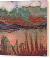 River Aflame Wood Print