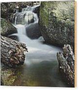 River And Rocks Wood Print