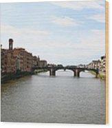 River Arno Wood Print