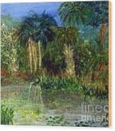 River At Riverbend Park In Jupiter Florida Wood Print