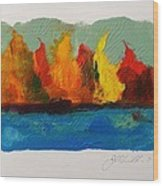 River Bank In Color Wood Print