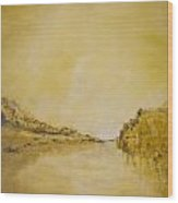 River Bank Slumber Wood Print