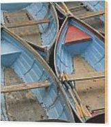 River Boats Wood Print