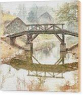 River Bridge Landscape Wood Print