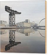 River Clyde Reflections Wood Print