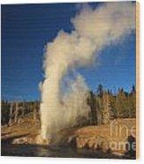 River Eruption Wood Print