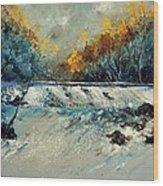 River Fall Wood Print