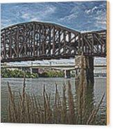 River Ferry Wood Print
