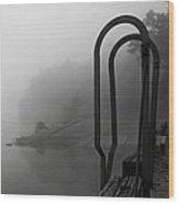 River Fog Wood Print