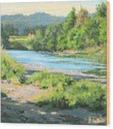 River Forks Morning Wood Print