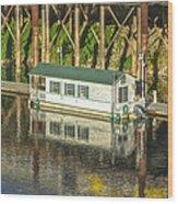 River Front 2 Sacramento Wood Print