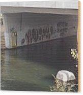 River Graffiti Wood Print