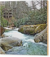 River House In Spring Wood Print
