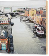River Hull Wood Print by Anthony Bean