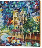 River In Paris Wood Print