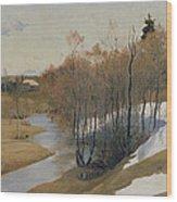 River Kordonka Wood Print