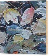 River Leaves Wood Print