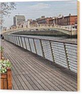 River Liffey Boardwalk In Dublin Wood Print