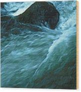 River Lynn In Surge Wood Print