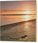 River Medway Sunrise IIi - Nuclear Explosion Wood Print