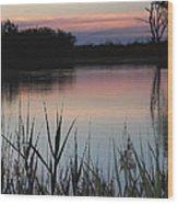 River Murray Sunset Series 2 Wood Print
