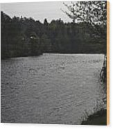 River Ness Near The Ness Islands In Inverness In Scotland Wood Print