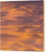 River Of Clouds Wood Print