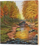 River Of Colors Wood Print