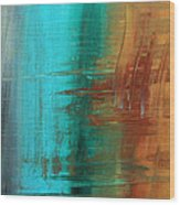 River Of Desire 21 By Madart Wood Print