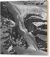 1m3646-bw-river Of Ice On Snowbird Glacier Wood Print
