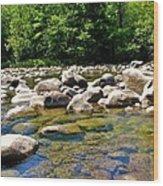 River Of Rocks Wood Print