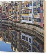 River Onyar Girona Spain Wood Print