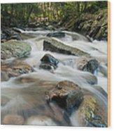 River - Rapids Above Kent Falls Wood Print