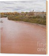 River Red New Mexico Wood Print