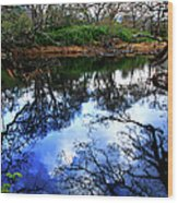 River Reflections Wood Print