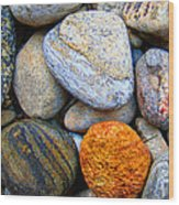 River Rocks 1 Wood Print