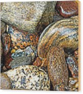 River Rocks 11 Wood Print