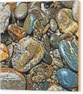 River Rocks 14 Wood Print