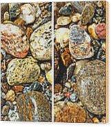 River Rocks 15 In Stereo Wood Print